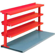 "Equipto® Production Booster 463T48-RD, 48""W X 36""H, 3 Shelves, Cherry Red"