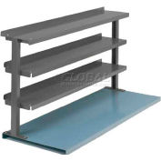 "Equipto® Production Booster 463T60-GY, 60""W X 36""H, 3 Shelves, Office Gray"