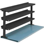 "Equipto® Production Booster 463T72-BK, 72""W X 36""H, 3 Shelves, Black"