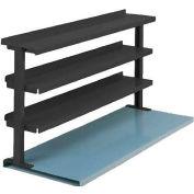 "Equipto® Production Booster 463T72-BK, 72""W X 36""H, 3 Shelves, Black"