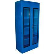 Equipto Quick View Cabinet 30 x 12 x 26, Assembled - Textured Regal Blue