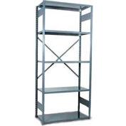 """Equipto Vg Open Shelf Starter Unit -36"""" W X 12"""" D X 84"""" H W/ 5 Shelves, Smooth Office Gray"""
