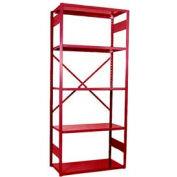 """Equipto Vg Open Shelf Starter Unit -36"""" W X 12"""" D X 84"""" H W/ 5 Shelves, Textured Cherry Red"""