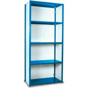 "Equipto Vg Closed Shelf Starter Unit - 36"" W X 18""D X 84"" H W/ 5 Shelves, Textured Regal Blue"