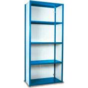 """Equipto Vg Closed Shelf Starter Unit - 36"""" W X 18""""D X 84"""" H W/ 5 Shelves, Textured Regal Blue"""
