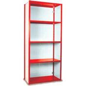 "Equipto Vg Closed Shelf Starter Unit - 48"" W X 24"" D X 84"" H W/ 5 Shelves, Textured Cherry Red"