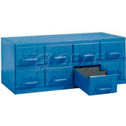 """Equipto Cabinet w/8 Drawers, 23""""W x 12""""D x 9-3/8""""H, Textured Regal Blue"""