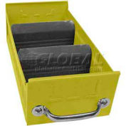 "Equipto Individual Metal Shelf Drawer, 5-5/8""w x 11""D x 3-1/8""H, Textured Safety Yellow"