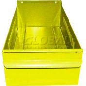 "Equipto Individual Metal Shelf Drawer, 4-1/4""W x 17""D x 3-1/8""H, Textured Safety Yellow"
