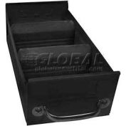 "Equipto Individual Metal Shelf Drawer, 5-5/8""w x 17""D x 3-1/8""H, Textured Black"