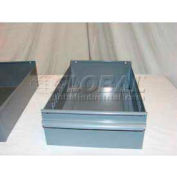 "Equipto Individual Metal Shelf Drawer, 8-3/8""W x 11""D x 3-1/8""H, Smooth Office Gray"