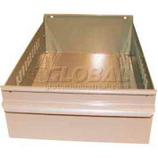 "Equipto Individual Metal Shelf Drawer, 8-3/8""W x 11""D x 3-1/8""H, Textured Putty"