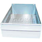 "Equipto Individual Metal Shelf Drawer, 8-3/8""W x 11""D x 3-1/8""H, Smooth Reflective White"