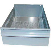 "Equipto Individual Metal Shelf Drawer, 8-3/8""W x 17""D x 3-1/8""H, Textured Dove Gray"