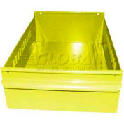 "Equipto Individual Metal Shelf Drawer, 8-3/8""W x 17""D x 3-1/8""H, Textured Safety Yellow"