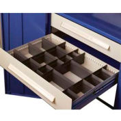 """Equipto Wide Drawer / Bolted Shelving 36""""W X 24""""D X 4 1/2""""H 400lb Capacity, Textured Evergreen"""