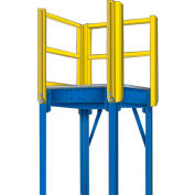 "Equipto 970-10 Platform Landing, 48"" x 48"", Floor Height 120"""