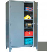 """Equipto Heavy Duty 12 Gauge All-Welded Storage Cabinet 48""""W x 24""""D x 60""""H - Dark Grey"""