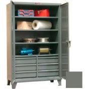 Equipto Heavy Duty Combination Cabinet 48 x 24 x 72 - Dark Grey