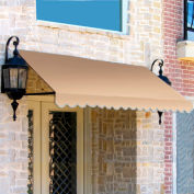 Awntech ER24-3L, Window/Entry Awning 3-3/8'W x 2'H x 4'D Linen