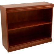 "Traditional Wood Veneer Bookcase, 1 Adjustable Shelf, Walnut Finish, 36""W x 30""H"