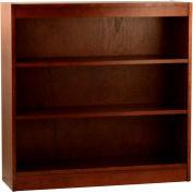 "Wood Veneer Bookcase, 2 Adjustable Shelves, Walnut Finish, 36""W x 36""H"