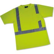 Aware Wear® ANSI Class 2 Hi-Vis T-Shirt, Short Sleeve, 14130 - Lime, Size 5XL