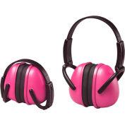 ERB™ 14242 Lightweight Folding Earmuffs, NRR 23 dB, Pink - Pkg Qty 12