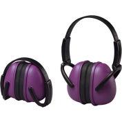 ERB™ 14242 Lightweight Folding Earmuffs, NRR 23 dB, Purple - Pkg Qty 12
