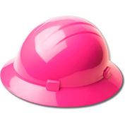 ERB™ 19210 Americana Full Brim Hard Hat, 4-Point Pinlock Suspension, Hi-Viz Pink - Pkg Qty 12