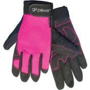 ERB®  Women's Mechanics Gloves, Hi-Viz Pink, M, 28859