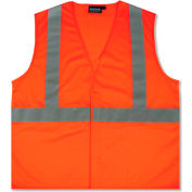 Aware Wear® ANSI Class 2 Economy Mesh Vest, 61436 - Orange, Size 2XL