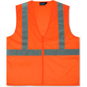 Aware Wear® ANSI Class 2 Economy Mesh Vest, 61455 - Orange, Size XL