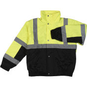 Aware Wear® Winter Wear ANSI Class 2 Bomber Jacket, 61593 - Lime/Black, Size XL