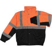 Aware Wear® Winter Wear ANSI Class 2 Bomber Jacket, 61604 - Orange/Black, Size XL