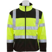 ERB™ 62205, W650 Aware Wear Hi-Vis Soft Shell Jacket, Class 3, Hi-Vis Lime/Black, XL