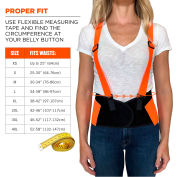 Ergodyne® ProFlex® 100 Economy Hi-Vis Back Support, Orange, Small