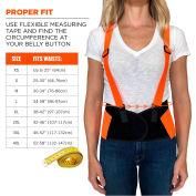 Ergodyne® ProFlex® 100 Economy Hi-Vis Back Support, Orange, Large