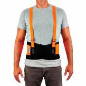 Ergodyne® ProFlex® 100 Economy Hi-Vis Back Support, Orange, 4XL