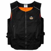 Ergodyne® Chill-Its® 6255 Lightweight Phase Change Cooling Vest, Black, L/XL, 12125