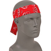 Ergodyne® Chill-Its® 6700 Evaporative Cooling Bandana - Tie, Red Western, One Size