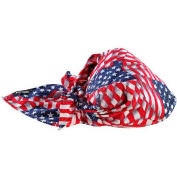Ergodyne® Chill-Its® 6710 Evaporative Cooling Triangle Hat, Stars/Stripes, One Size