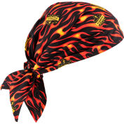 Ergodyne® Chill-Its® 6710 Evaporative Cooling Triangle Hat, Flames - Pkg Qty 24