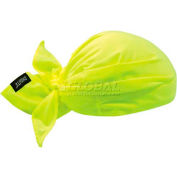 Ergodyne Chill-Its® Evaporative Cooling Triangle Hat, Lime, 12331