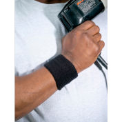 Ergodyne® Chill-Its® 6500 Wrist Sweatband, Black, One Size - Pkg Qty 24