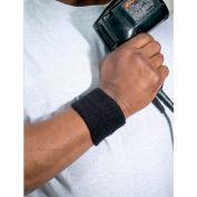 Ergodyne® Chill-Its® 6500 Wrist Sweatband, Black, One Size - Pkg Qty 24