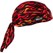 Ergodyne® Chill-Its® 6615 High-Performance Dew Rag, Flames, One Size