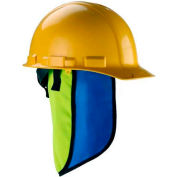 Ergodyne Chill-Its® Evap. Hard Hat Neck Shade w/ Built-In Cooling Towel, Lime, 12523