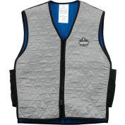 Ergodyne® Chill-Its® 6665 Evaporative Cooling Vest, Gray, XL