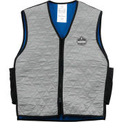 Ergodyne® Chill-Its® 6665 Evaporative Cooling Vest, Gray, 3XL